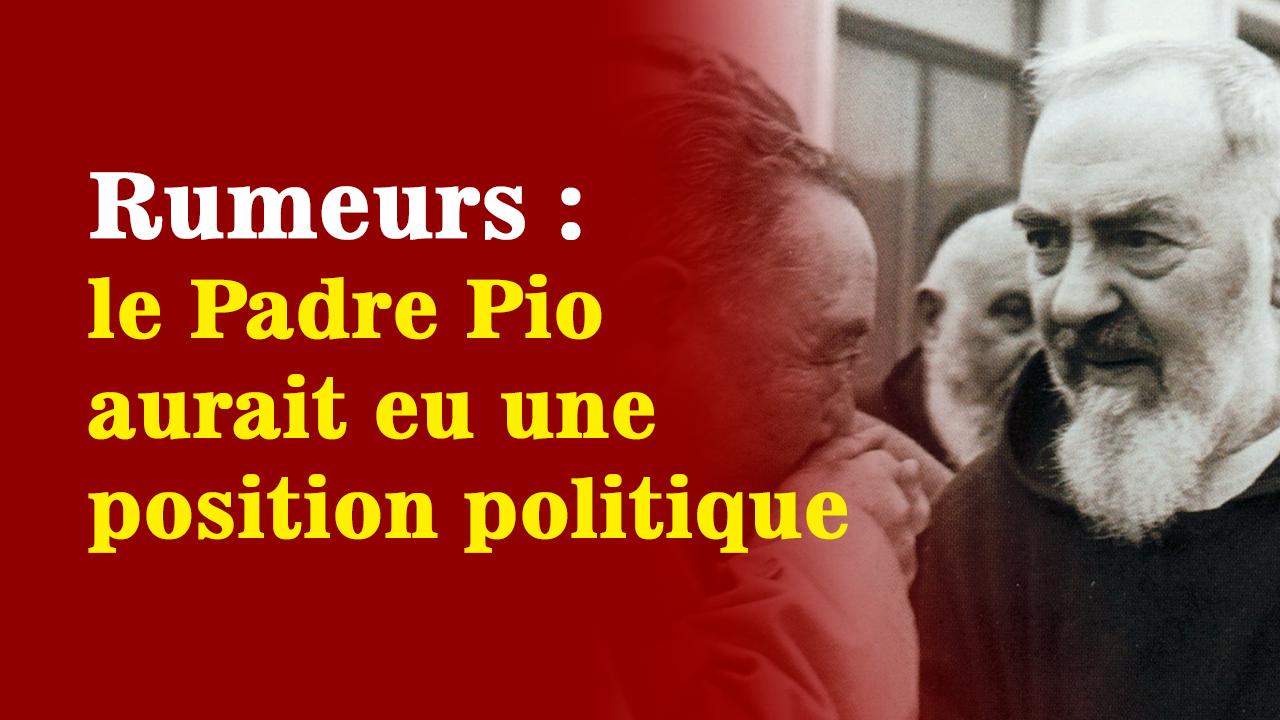 Fasciste - Avec gourmandise, les journaux attribuent au Padre Pio la responsabilité de la tragédie et l'accusent même d'être fasciste !